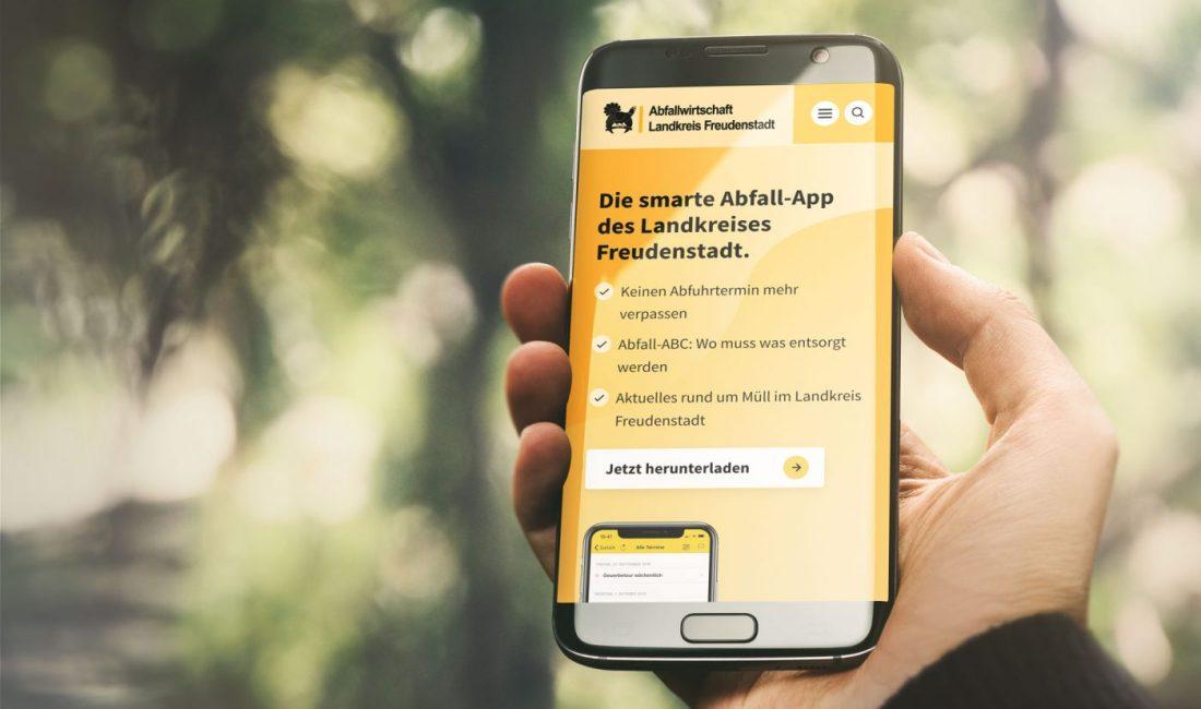 Smartphone mit AWB Website