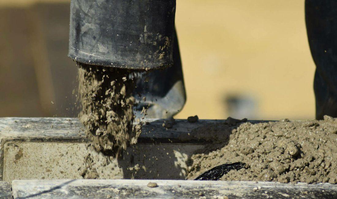 Sanierungsarbeiten mit Beton